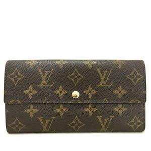 💯Auth Louis Vuitton Portefeiulle Sarah Wallet